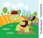 cute animal series vector... | Shutterstock .eps vector #726524476