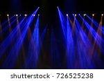 performance moving lighting on... | Shutterstock . vector #726525238