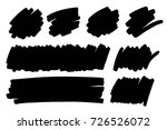 vector black paint  ink brush... | Shutterstock .eps vector #726526072