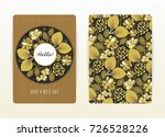 cover design with floral... | Shutterstock .eps vector #726528226