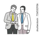 two businessmen making... | Shutterstock .eps vector #726532936