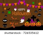 cut character cartoon happy... | Shutterstock .eps vector #726535612