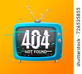 retro home tv not found... | Shutterstock .eps vector #726535855