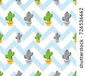 cactus seamless pattern  cactus ... | Shutterstock .eps vector #726536662
