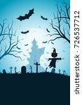 halloween party poster. holiday ...   Shutterstock .eps vector #726537712