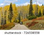 autumn mountain road   a four...