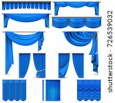 curtains and draperies interior ... | Shutterstock .eps vector #726539032