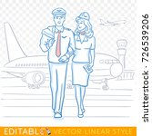 pilot and stewardess. the crew... | Shutterstock .eps vector #726539206