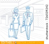 pilot and stewardess. the crew... | Shutterstock .eps vector #726539242