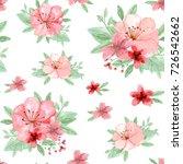 flowers and leaves wallpaper... | Shutterstock . vector #726542662