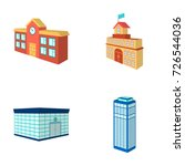 bank office  skyscraper  city... | Shutterstock .eps vector #726544036