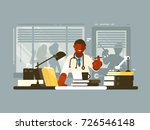 chief doctor of hospital in... | Shutterstock .eps vector #726546148