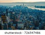 new york city skyline with...   Shutterstock . vector #726547486