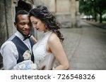 beautiful wedding couple... | Shutterstock . vector #726548326