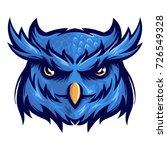 majestic nocturnal bird owl... | Shutterstock .eps vector #726549328