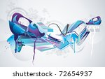color abstract paint vector   Shutterstock .eps vector #72654937