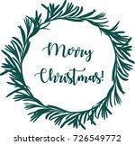 merry christmas. beautiful... | Shutterstock .eps vector #726549772