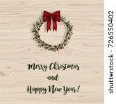 merry christmas and happy new... | Shutterstock .eps vector #726550402