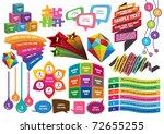 design elements n text box... | Shutterstock .eps vector #72655255