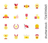 trophy and prize icons. set of...   Shutterstock .eps vector #726554065