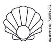 pearl shell vector line icon ... | Shutterstock .eps vector #726556042