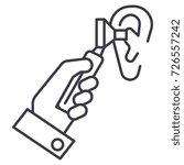 otoscope ear ent... | Shutterstock .eps vector #726557242