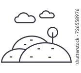 hills vector line icon  sign ...   Shutterstock .eps vector #726558976