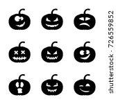 silhouette halloween pumpkin... | Shutterstock .eps vector #726559852