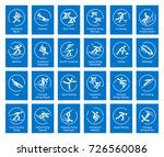 Winter sports icons set, pictograms for web, print and other projects. All olympic species of events