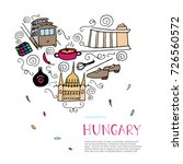 culture of hungary concept.... | Shutterstock .eps vector #726560572