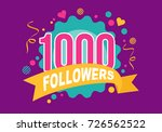 thank you one thousand... | Shutterstock .eps vector #726562522