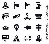 16 vector icon set   pointer ... | Shutterstock .eps vector #726563632