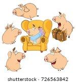 set  vector cartoon... | Shutterstock .eps vector #726563842
