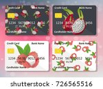 design for credit card with... | Shutterstock .eps vector #726565516