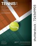 tennis championship poster... | Shutterstock .eps vector #726569905