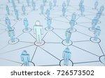 3d render human social network...   Shutterstock . vector #726573502