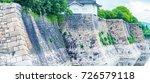 osaka castle  japan. | Shutterstock . vector #726579118