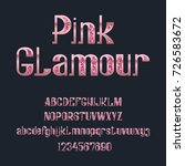 pink glamour typeface.... | Shutterstock .eps vector #726583672