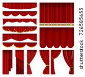 Theather Red Blind Curtain...