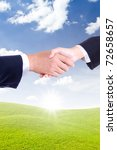 business hand shaking for new... | Shutterstock . vector #72658657