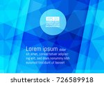 abstract geometric blue color... | Shutterstock .eps vector #726589918