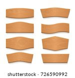 cartoon wooden brown plate... | Shutterstock .eps vector #726590992