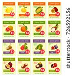 exotic tropical fruits price... | Shutterstock .eps vector #726592156