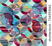 abstract fantasy watercolor... | Shutterstock . vector #726593062