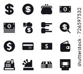 16 vector icon set   dollar ... | Shutterstock .eps vector #726597532