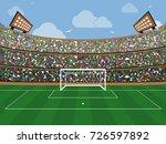 sport stadium with soccer goal... | Shutterstock .eps vector #726597892