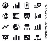 16 vector icon set   target... | Shutterstock .eps vector #726599926