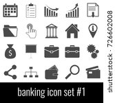 banking. icon set 1. gray icon... | Shutterstock .eps vector #726602008