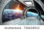 spaceship bright interior with... | Shutterstock . vector #726618412