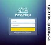 login user interface. sign in...